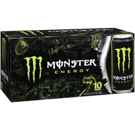 Monster Energy Energy Taurine Plus Ginseng Energy Supplement  10Pk
