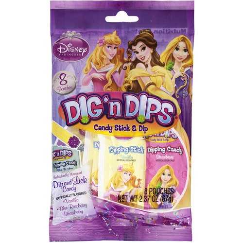 Disney Princess Party Dig 'n Dips Candy, 8pk