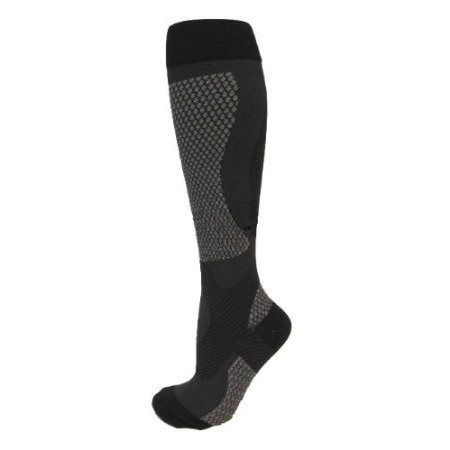Compression Baseball Socks - BriteLeafs Professional Sports Recovery & Performance Compression Socks 20-30mmHg Firm Support-Great for Basketball, Running, Baseball, Walking, Cycling, Training and Travel - Large, Black