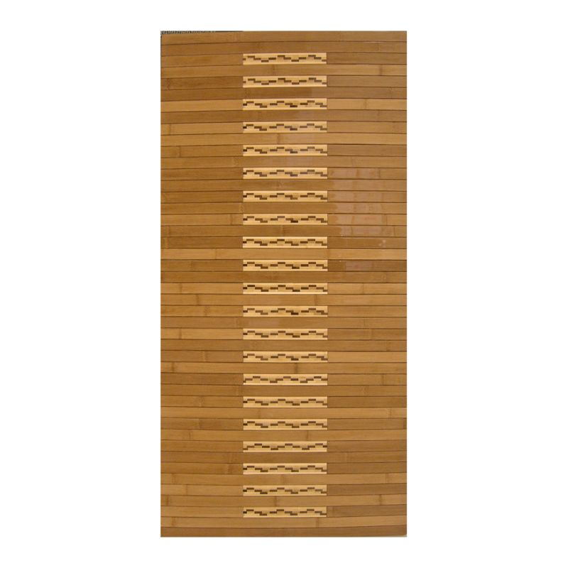 Anji Mountain AMB0090 High Gloss Inlaid Bamboo Kitchen/Bath Mat