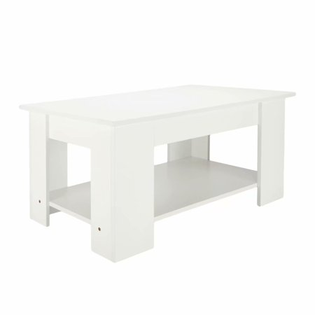 Astounding Clearancelift Up Top Coffee Table Hidden Storage Compartment White Pabps2019 Chair Design Images Pabps2019Com