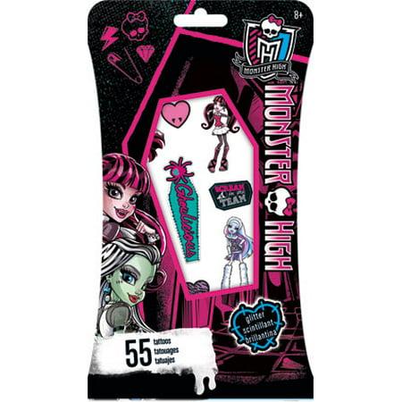 Glitter Tattoo - Monster High - Temporay 55 pc New tt2503 (Monster Tattoo)