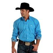 Cinch Western Shirt Mens Long Sleeve Weave Button Blue MTW1104204