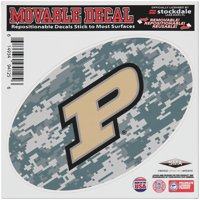 """Purdue Boilermakers 6"""" x 6"""" Digital Camo Oval Repositionable Decal"""