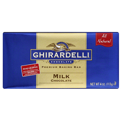 Ghirardelli Chocolate Premium Milk Chocolate Baking Bars, 4 oz, (Pack of 12)