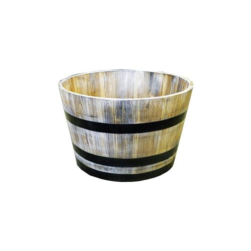 Real Wood Products G3056 Garden Planter, Half Whiskey Barrel, Wood by REAL WOOD PRODUCTS CO