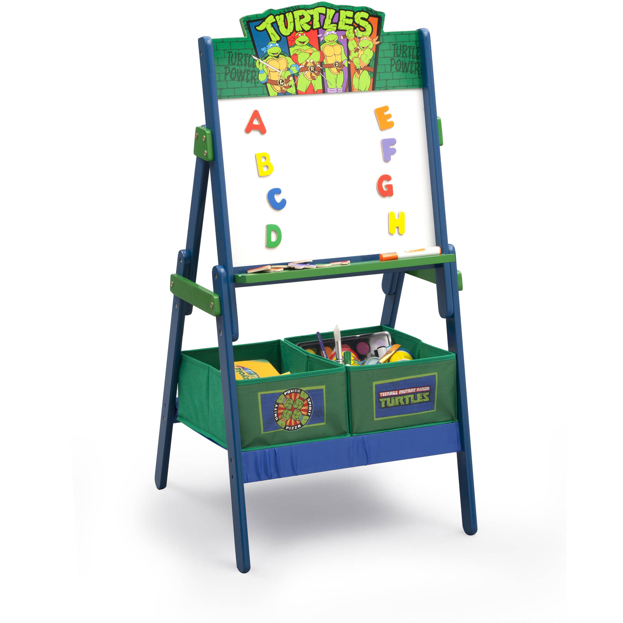 Teenage Mutant Ninja Turtles Activity Easel with Storage by Delta Children