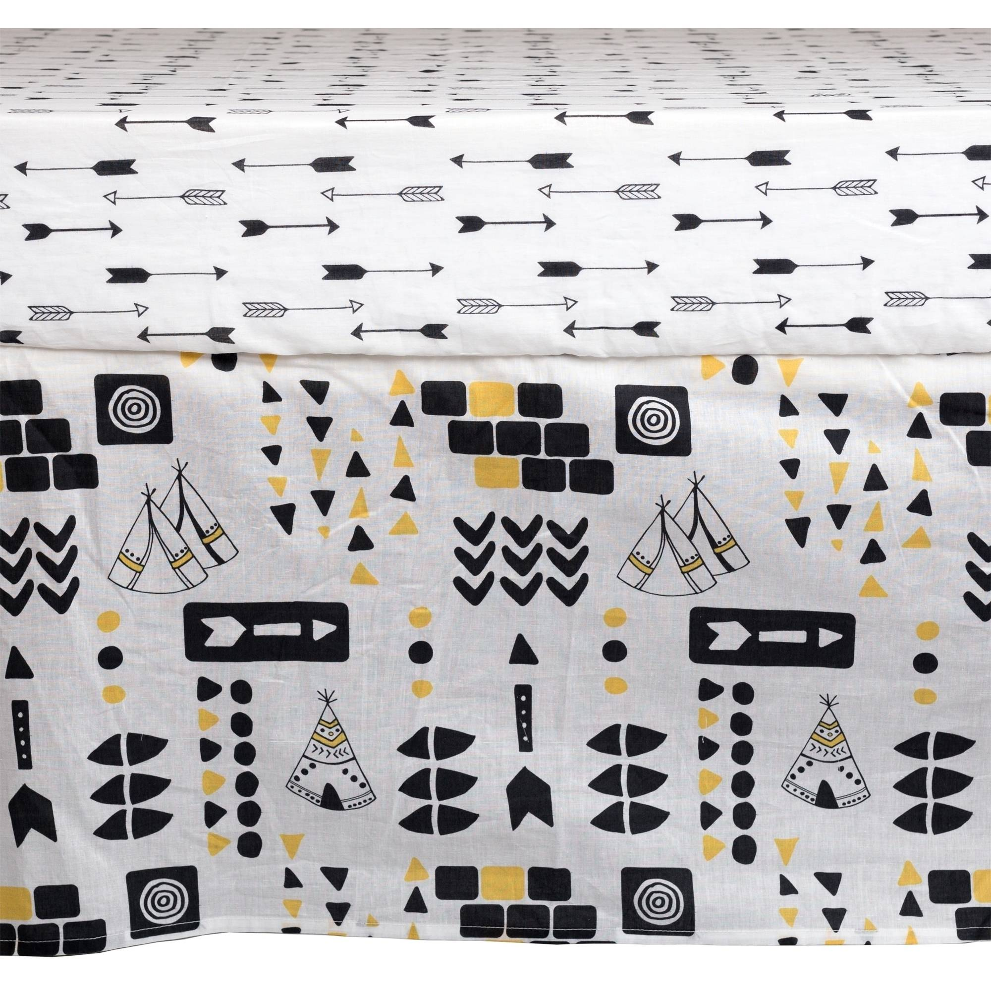 Poppi Living Aztec Premium Cotton Crib Skirt