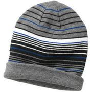 Men's Stripe Slouchy Knit Reversible Beanie Hat