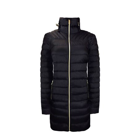 Michael MIchael Kors Black Down Packable Puffer Coat with Hood, Black S