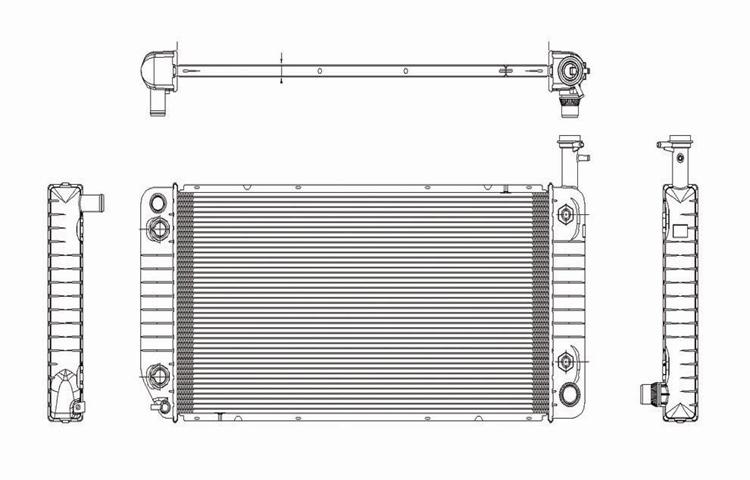 TYC 2866 Chevrolet Express 1-Row Plastic Aluminum Replacement Radiator