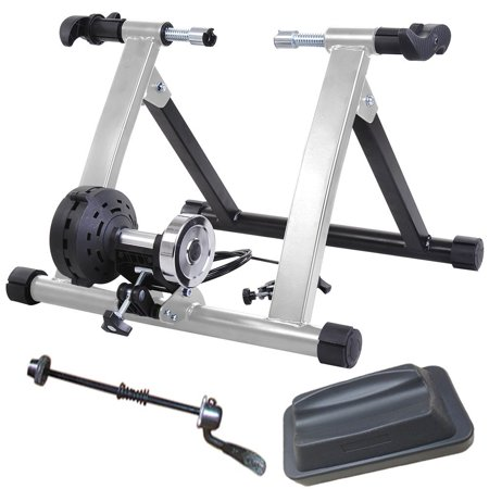 Health Line Products Bike Turbo Trainer 8 Magnetic Levels Resistance w Front Wheel Block