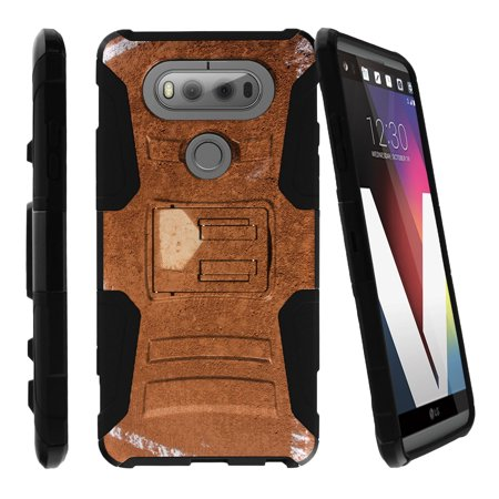 LG V20 Case | V20 Case Shell [Clip Armor]- Premium Defender Case Hard Shell Silicone Interior with Kickstand and Holster by Miniturtle® - Home plate Dirt