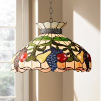 Robert Louis Tiffany Ripe Fruit 3-Light Tiffany Style Glass Pendant Light