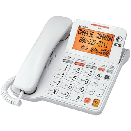 ATT CL4940 Corded Phone with Answering System & Large Tilt Display (Retro Phone With Answer Machine)