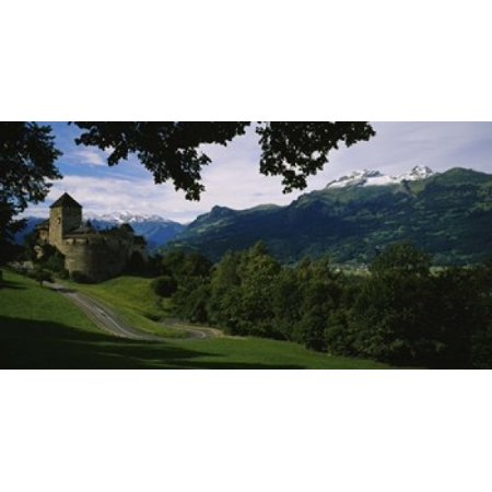 High angle view of a castle Vaduz Liechtenstein Canvas Art - Panoramic Images (24 x 12)