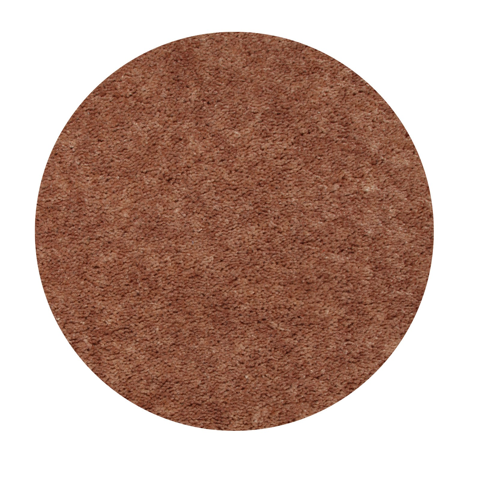 Home Queen Solid Color Brown 4' Round - Area Rug