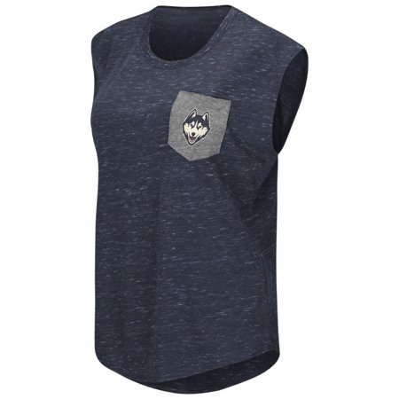 Ncaa Connecticut Uconn Huskies - UCONN Connecticut Huskies Ladies Pocket Tee Heathered Vintage T-Shirt