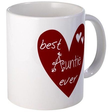CafePress - Red Heart Best Auntie Ever Mug - Unique Coffee Mug, Coffee Cup