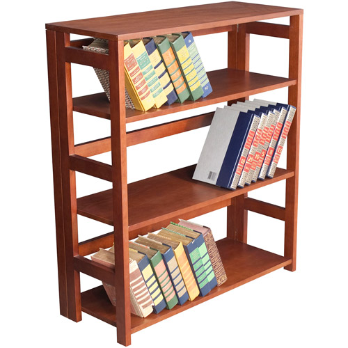 Flip Flop 3-Shelf Folding Bookcase, Multiple Finishes