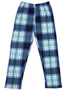 North 15 - Girls Super Cozy Plaid Minky Fleece Pajama Bottom Lounge Pants-L1527G-Design8-7