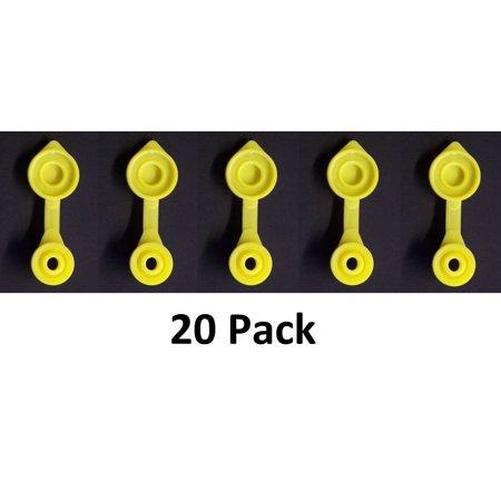 20 Yellow Fuel Gas Can Jug Vent Cap Walmart Com
