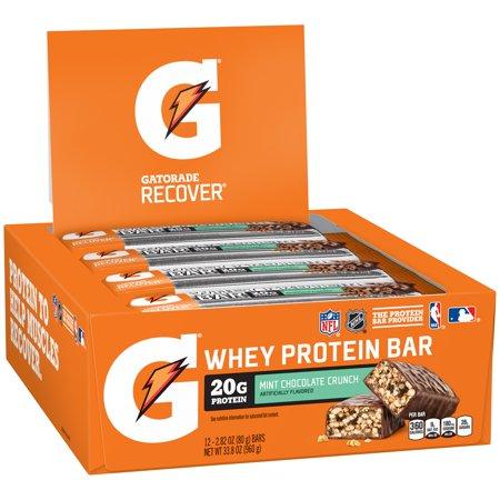 Gatorade Recover Bar, Mint Chocolate Crunch, 20g Protein, 1 Ct