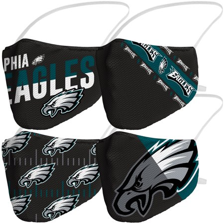 Philadelphia Eagles Fanatics Branded Adult Variety Face Covering 4-Pack