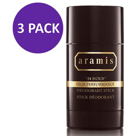 Aramis 24 Hour High Performance Deodorant Stick for Men, 2.6 Oz (3 Pack)