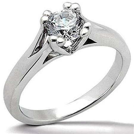 Harry Chad Enterprises 2369 3 CT Diamond F VS1 Solitaire Engagement Ring - White Gold - image 1 of 1
