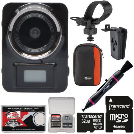 Vivitar Dvr906hd Hd Lifecam Digital Video Camera Camcorder Body Cam With 32Gb Card   Case   Kit