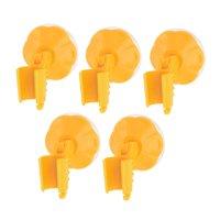 Bathroom Rubber Suction Cup Wall Stick Shower Head Spray Holder Orange 5pcs