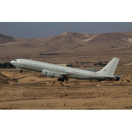 A Boeing 707 Reem of the Israeli Air Force over Israel Poster Print by Ofer ZidonStocktrek Images