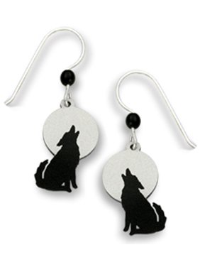 6e0840555cf3 Product Image Wolf Howling Against a Gray Moon Earrings Made in the USA  1457. Sienna Sky