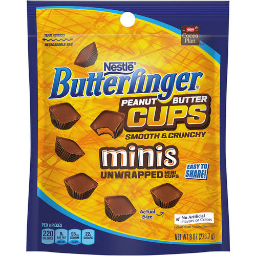 Butterfinger Peanut Butter Cups Minis Unwrapped Mini Cups, 8 oz
