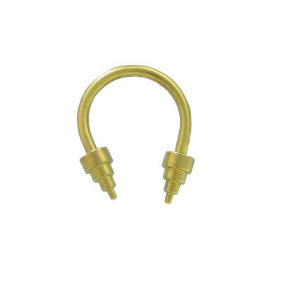 Barbell Head - Yellow Solid Titanium 14 gauge Horse Shoe Barbell with Cone Heads