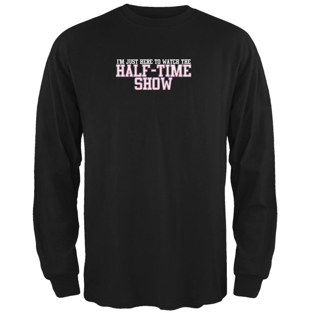 Big Game Half Time Show Black Adult Long Sleeve T-Shirt