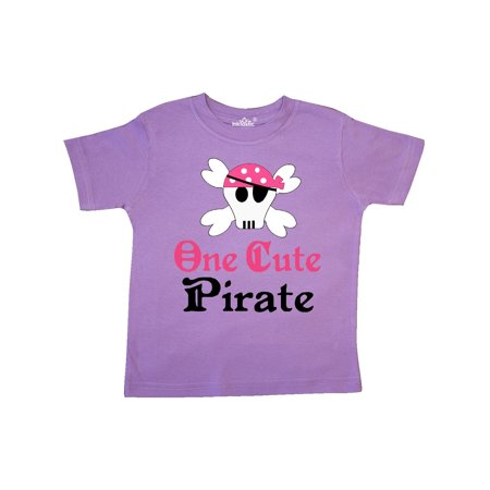 Girls Cute Pirate Toddler T-Shirt - Cute Pirate
