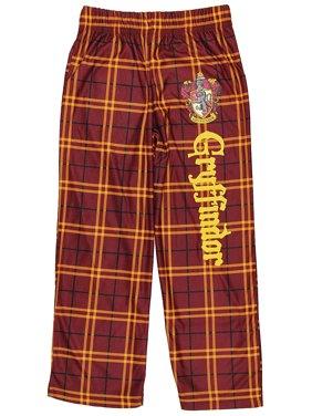 Intimo Harry Potter Big Boys Gryffindor House Plaid Pajama Lounge Pants