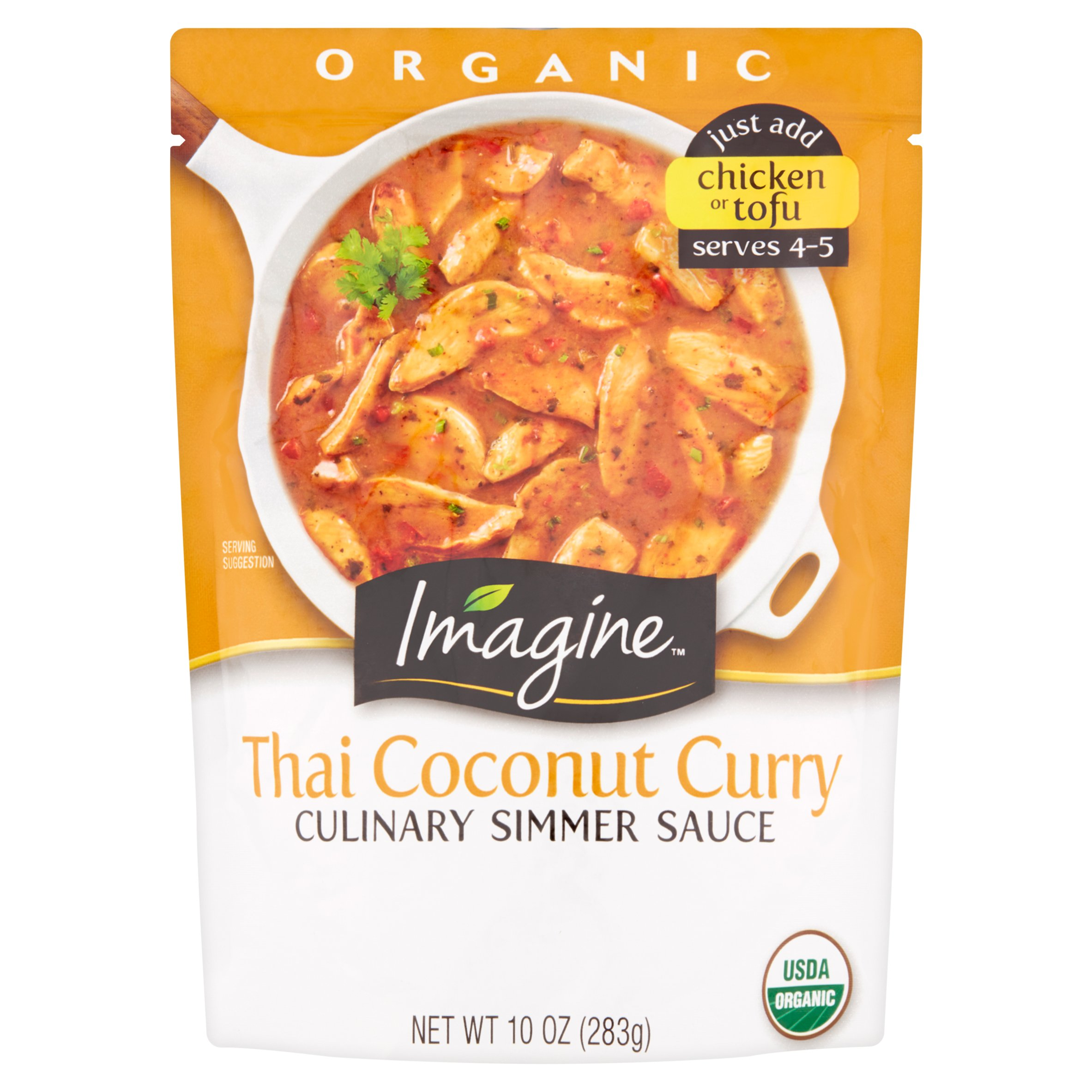 Imagine Organic Thai Coconut Curry Culinary Simmer Sauce, 10 oz, 6 pack