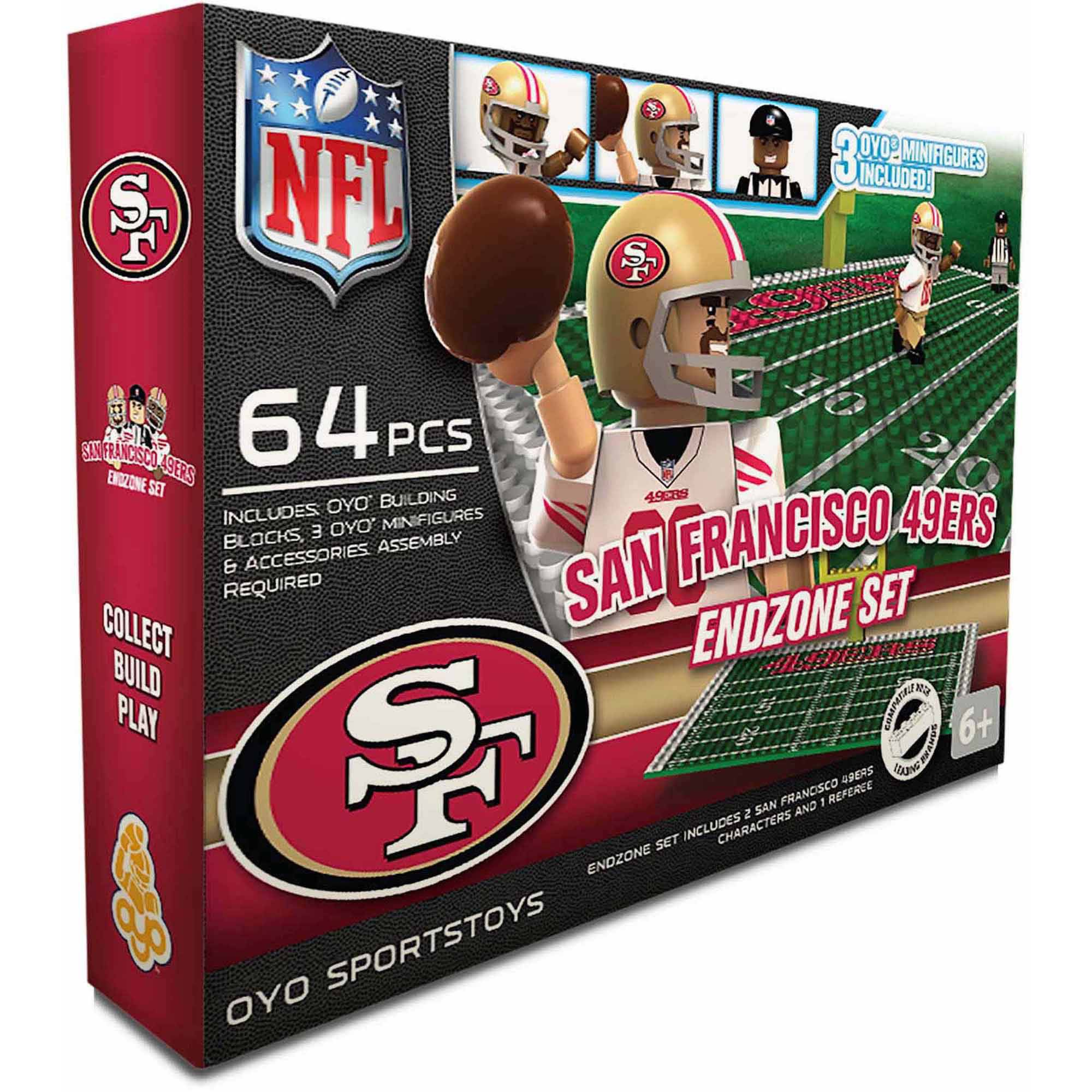 OYO Sports 64-Piece NFL End Zone Building Block Set, San Francisco 49ers