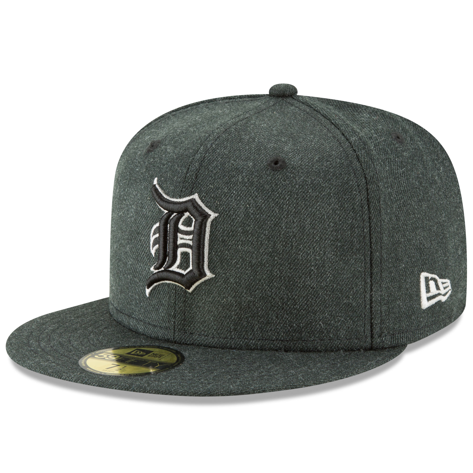 Men's New Era Heathered Black Detroit Tigers Bold 59FIFTY Fitted Hat