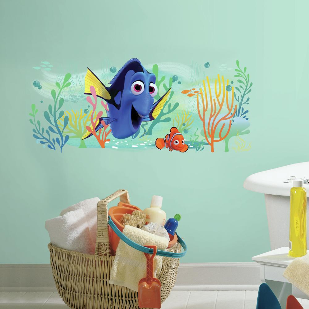 "Disney FINDING DORY Giant 39"" Wall Decals Tropical Aqua Fish Graphic Stickers"