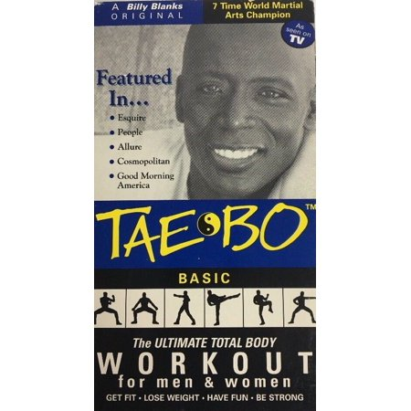 TAE BO LIVE BASIC WORKOUT VHS Video Tapes-TESTED-RARE VINTAGE-SHIP N 24 HOURS