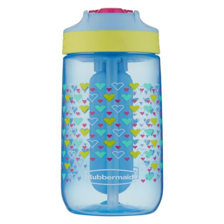 Rubbermaid 12 oz. Leak-Proof Sip Kids Water Bottle with Blue Ice Stick, Tiny Hearts Graphic](Kids Water Bottles)
