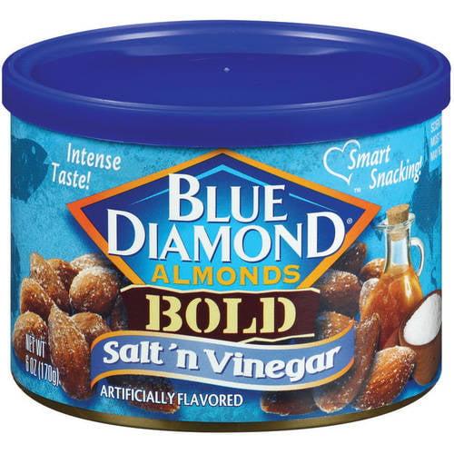 (3 Pack) Blue Diamond Almonds Bold Salt 'n Vinegar Almonds, 6 oz