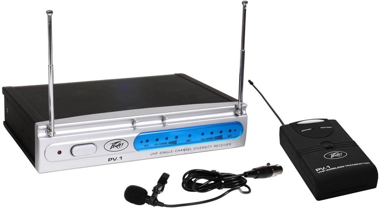 Peavey PV-1 U1 BL 923.70MHZ UHF Series Wireless Lavalier Microphone by Peavey