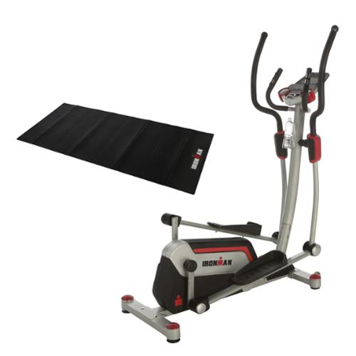 """IRONMAN H-Class 610 Smart Technology Elliptical Trainer with Bluetooth, 18"""" Stride, Heart Rate Control and BONUS Equipment Mat"""
