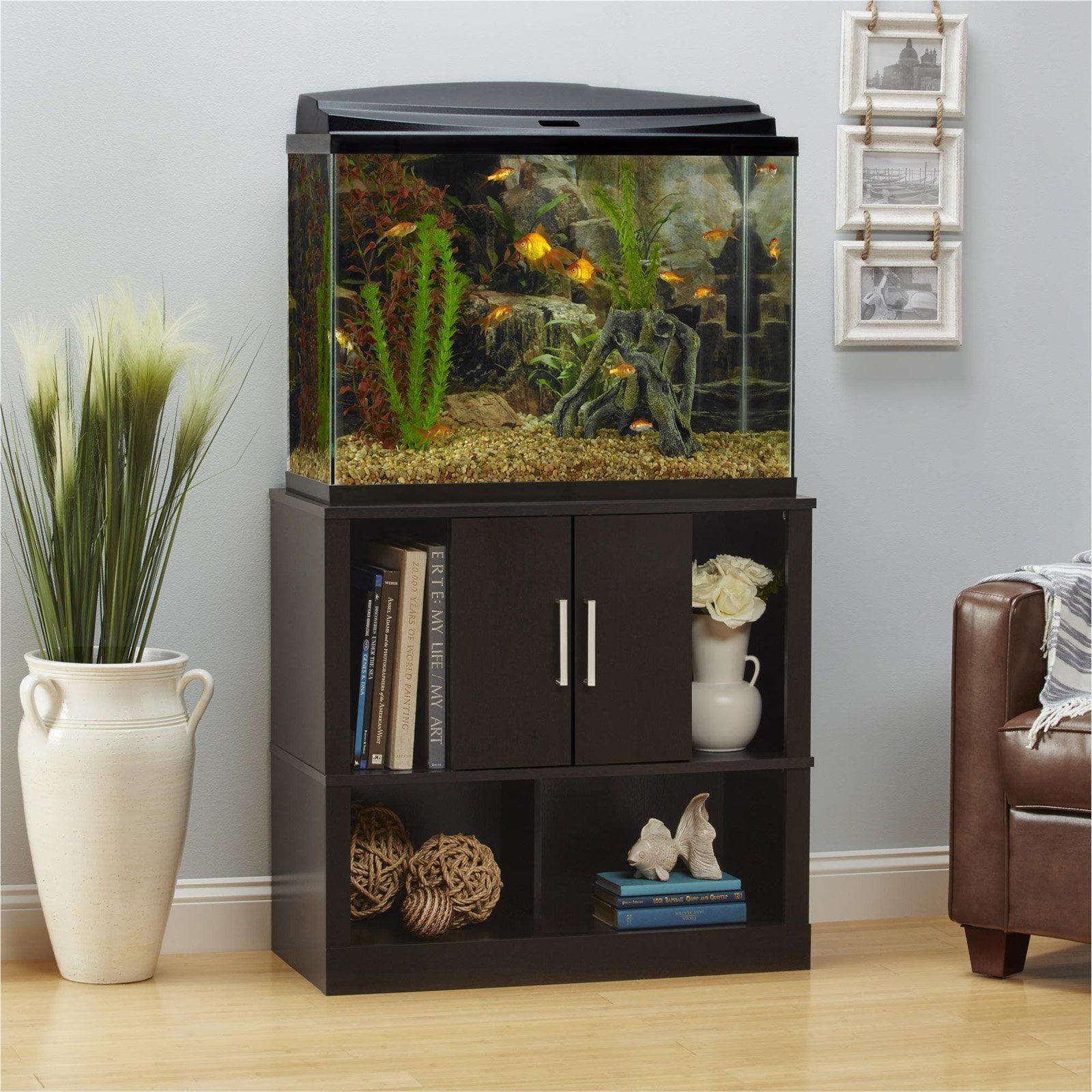 Altra Furniture Laguna Tide Aquarium Stand   Espresso   Walmart.com