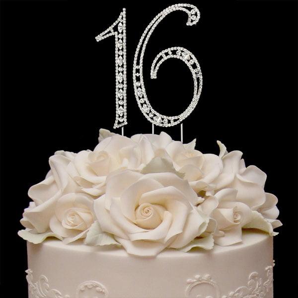 Sweet 16 Birthday Cake Toppers Bling Birthday Cake Topper